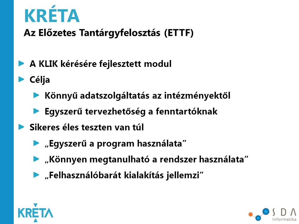 KRÉTA ETTF Fenntartói riportok (2016.07.