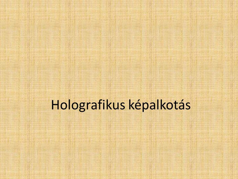 Holografikus képalkotás