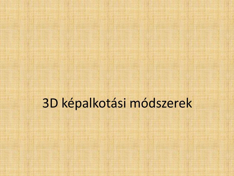 3D képalkotási módszerek