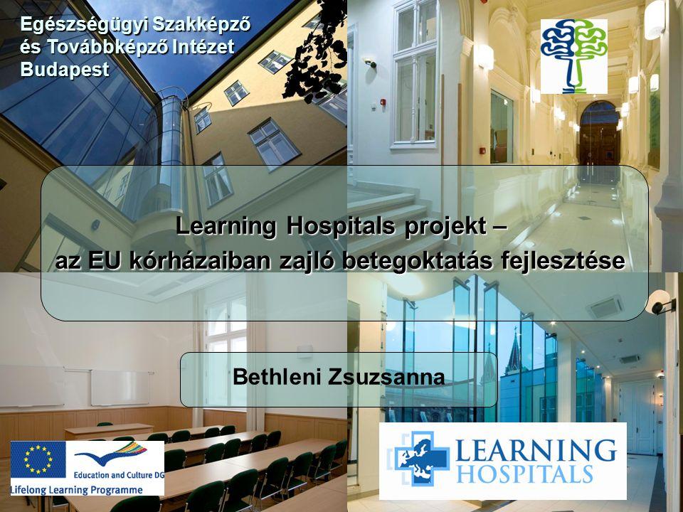 Learning Hospitals projekt – az EU kórházaiban zajló betegoktatás fejlesztése Bethleni Zsuzsanna Egészségügyi Szakképző és Továbbképző Intézet Budapest