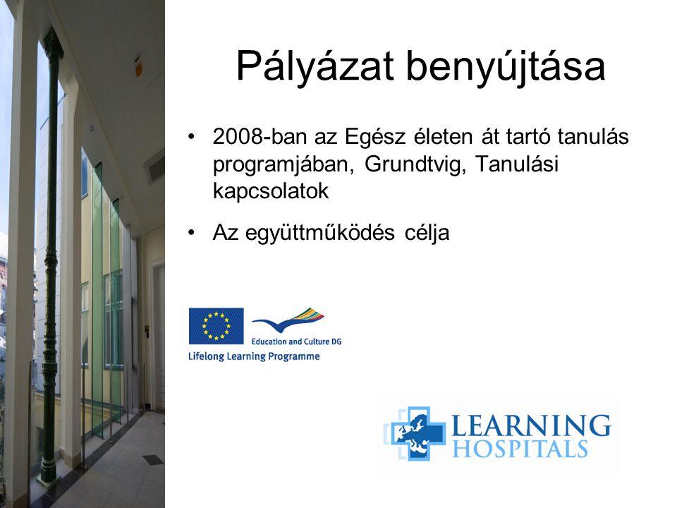 2008-ban az Egész életen át tartó tanulás programjában, Grundtvig, Tanulási kapcsolatok Az együttműködés célja Pályázat benyújtása