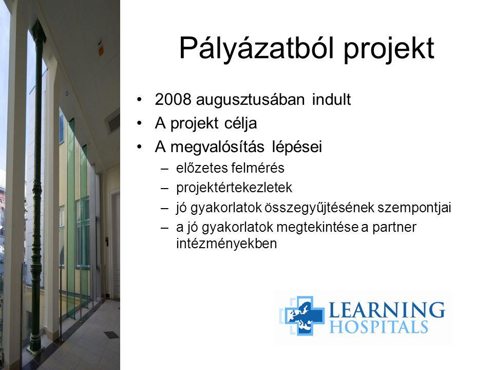 2008 augusztusában indult A projekt célja A megvalósítás lépései –előzetes felmérés –projektértekezletek –jó gyakorlatok összegyűjtésének szempontjai –a jó gyakorlatok megtekintése a partner intézményekben Pályázatból projekt