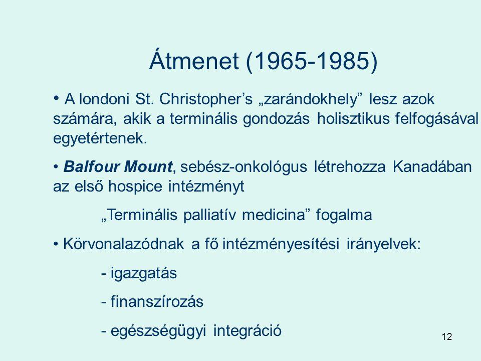 12 Átmenet (1965-1985) A londoni St.