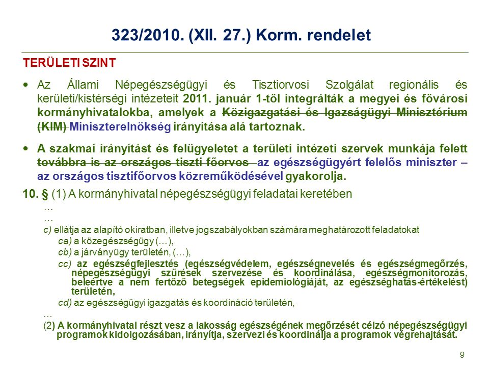 323/2010.(XII. 27.) Korm.