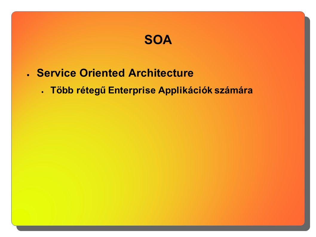 SOA ● Service Oriented Architecture ● Több rétegű Enterprise Applikációk számára