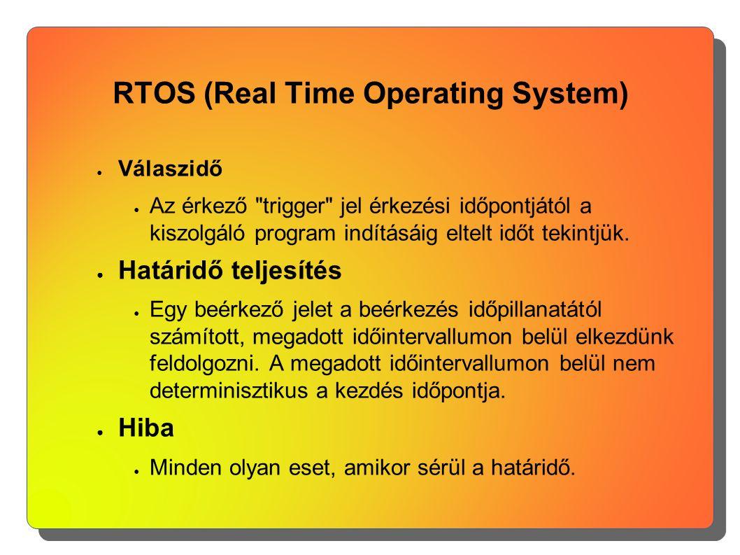RTOS (Real Time Operating System) ● Válaszidő ● Az érkező