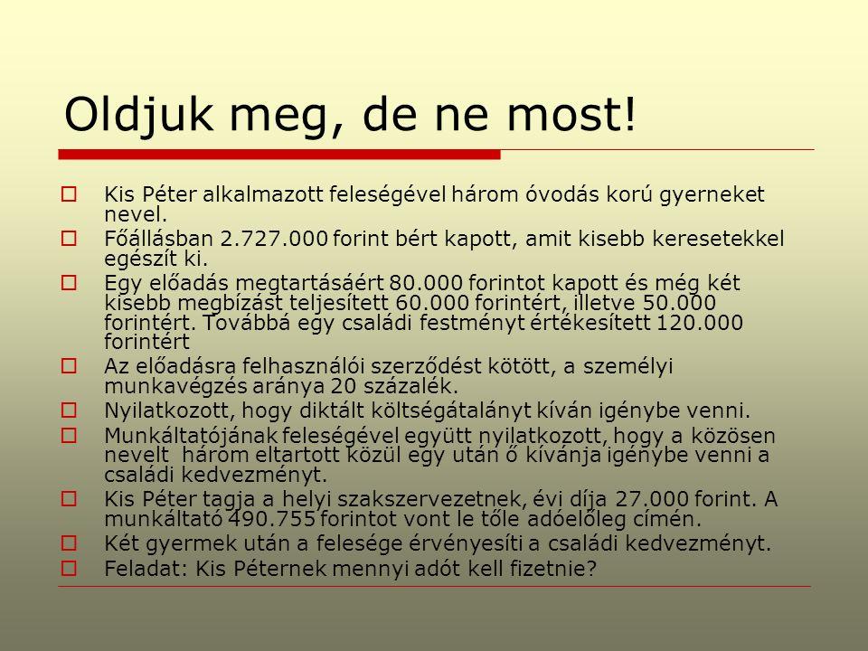 ADÓZÁS I.Adójóváírás  Bevezetés Bokros Lajos féle adócsomag 1995.évi CXVII.