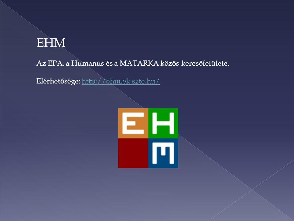 EHM – a közös kereső