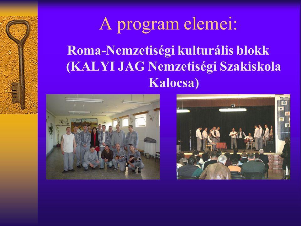 A program elemei: Roma-Nemzetiségi kulturális blokk (KALYI JAG Nemzetiségi Szakiskola Kalocsa)
