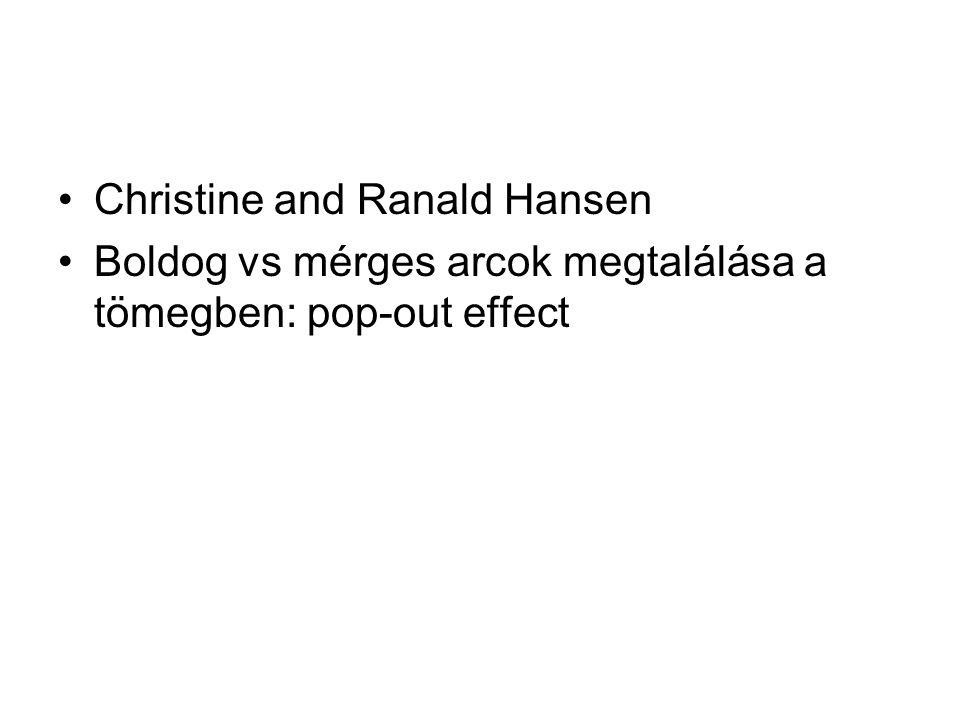 Christine and Ranald Hansen Boldog vs mérges arcok megtalálása a tömegben: pop-out effect