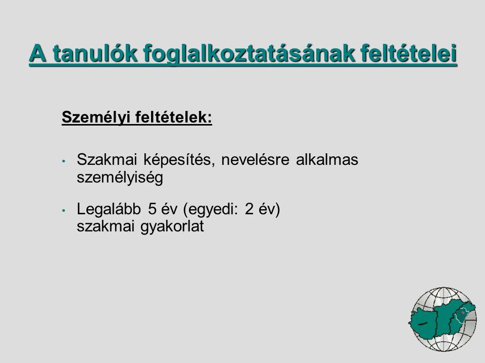 I.A gazdálkodó szervezet és a képzőhely alapadatai II.