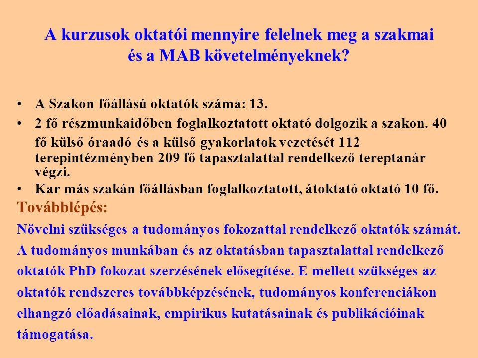 A kétszintű képzésre való felkészülés folyamatának, helyzetének és eredményeinek bemutatása A Debreceni Egyetem két kara a MAB állásfoglalása alapján közös szakindítási kérelmet terjesztett elő, melynek előkészítő fázisában a karok képviselői bizottságban dolgozták ki a lineáris többciklusú képzés szakmai és tartalmi alapjait, a gyakorlati képzés minimumait.