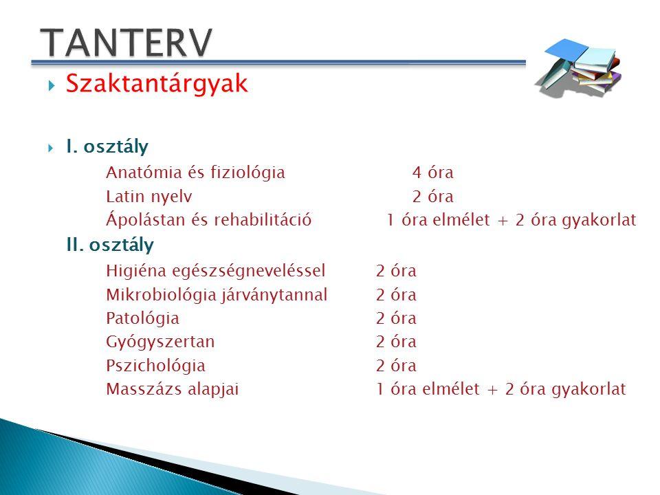 Szaktantárgyak  III.
