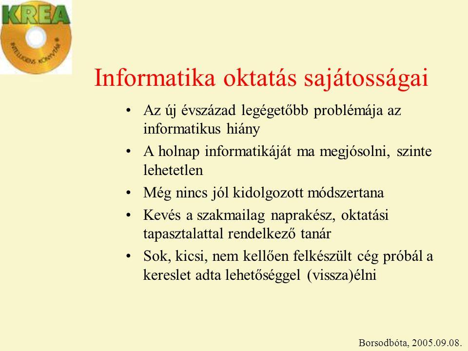 Informatika oktatás sajátosságai A keresettebb informatikai képzések hierarchiája 1.