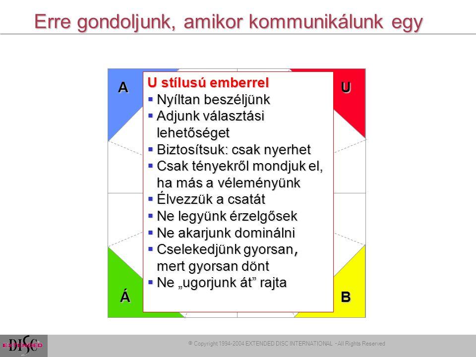 l A stílusunk változtatása l Kommunikáció 48