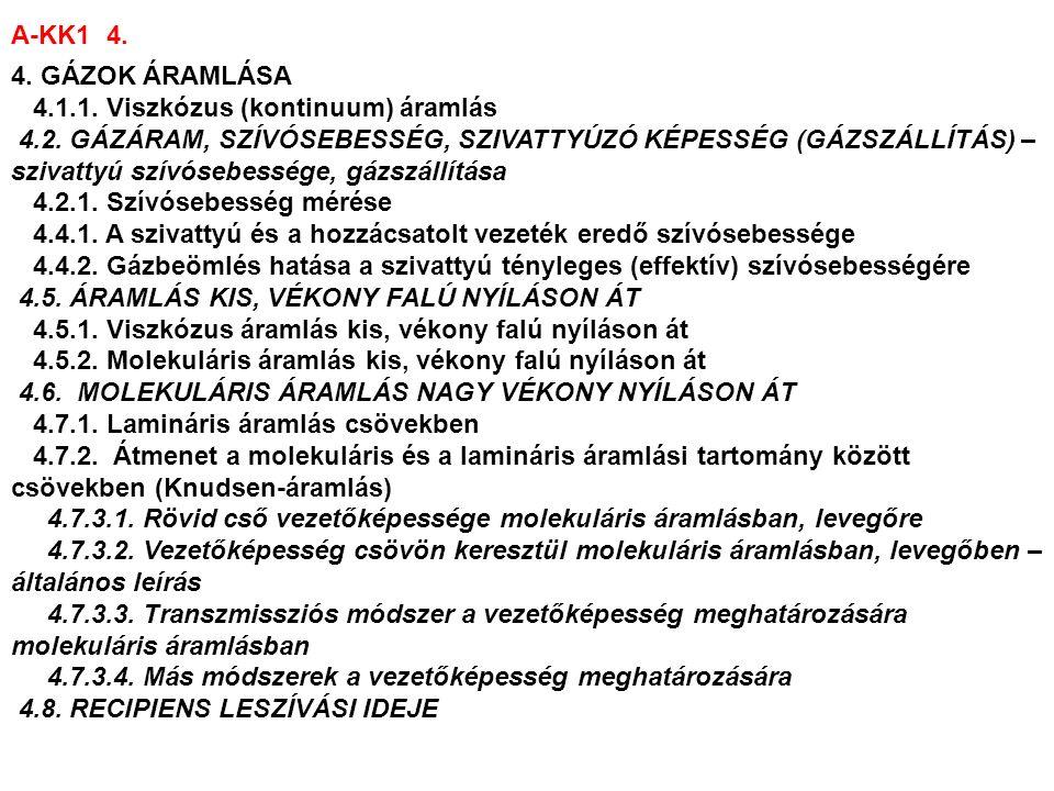 A-KK1 5.5. FELÜLETI JELENSÉGEK, KIGÁZOSODÁS 5.2.1.