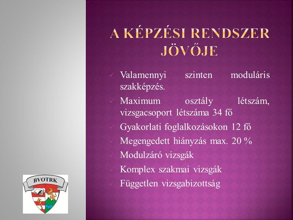 Rendészeti szervező képzési program engedélyeztetése Oktatási terv elkészítése 2016/17-es tanévre Férőhelybővítéshez az állomány kiképzése A tanulói állomány élelmezésének megoldása a BVOTRK-ban A szakmai képzésről szóló OP szakutasítás kidolgozásában közreműködés
