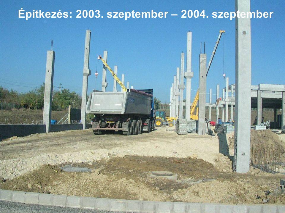 Építkezés: 2003. szeptember – 2004. szeptember