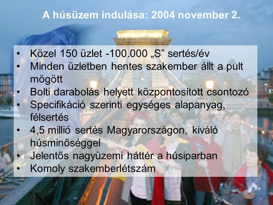 A húsüzem indulása: 2004 november 2.