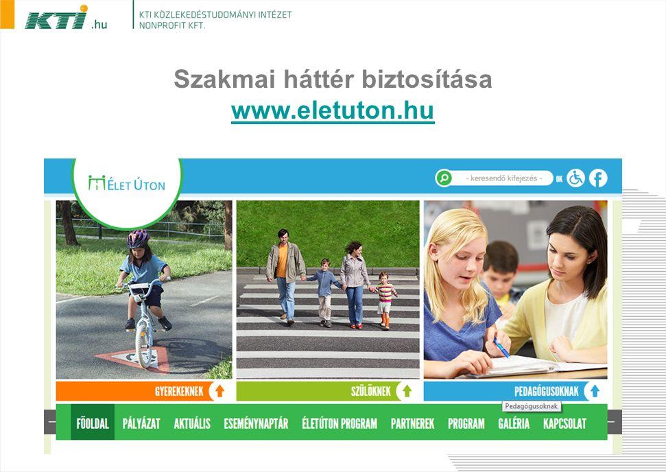 Szakmai háttér biztosítása www.eletuton.hu