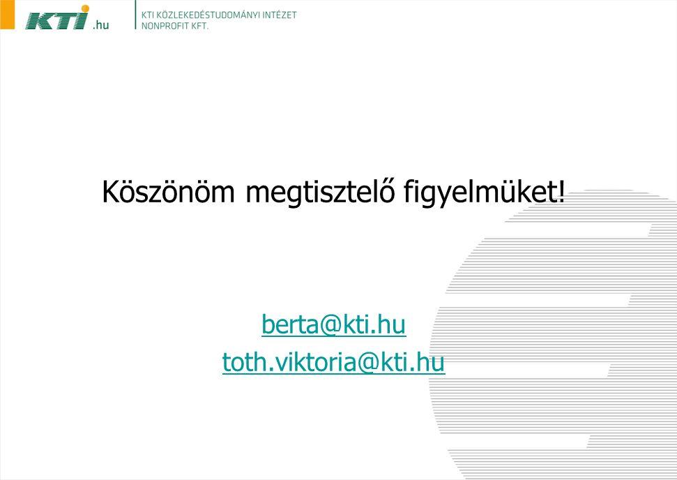 Köszönöm megtisztelő figyelmüket! berta@kti.hu toth.viktoria@kti.hu