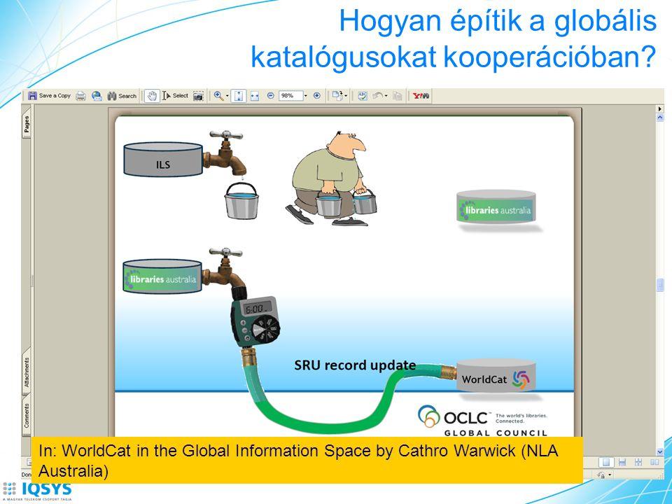 Hogyan építik a globális katalógusokat kooperációban? In: WorldCat in the Global Information Space by Cathro Warwick (NLA Australia)