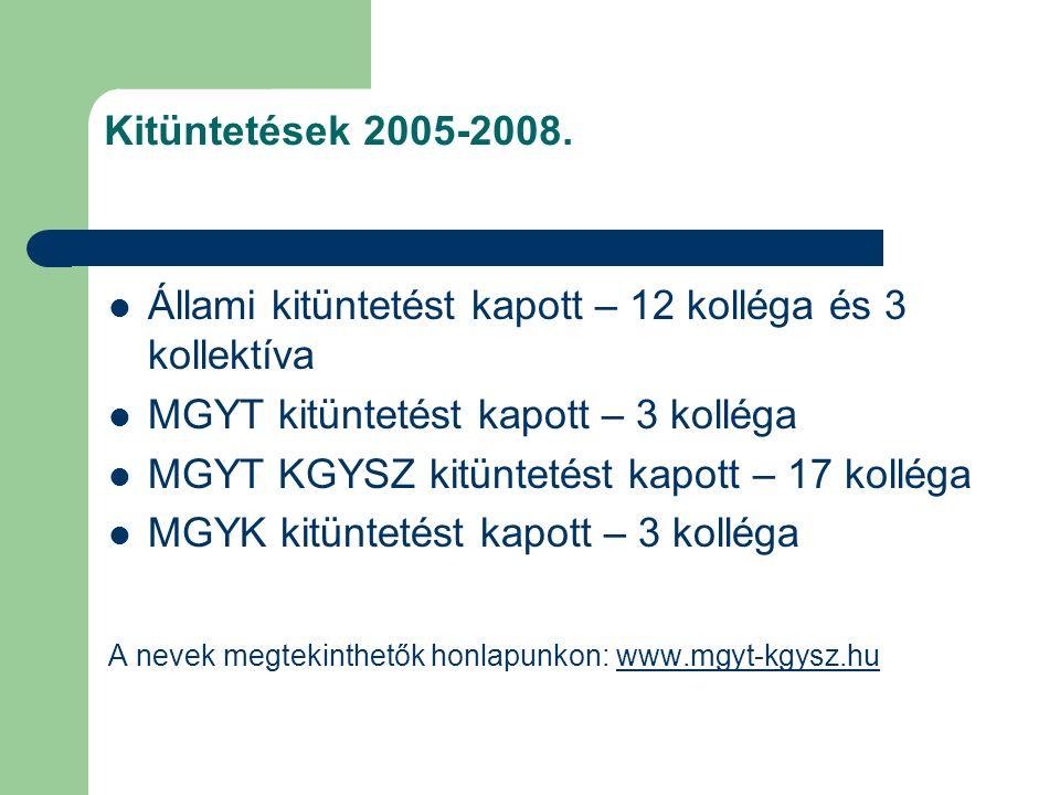Kitüntetések 2005-2008.