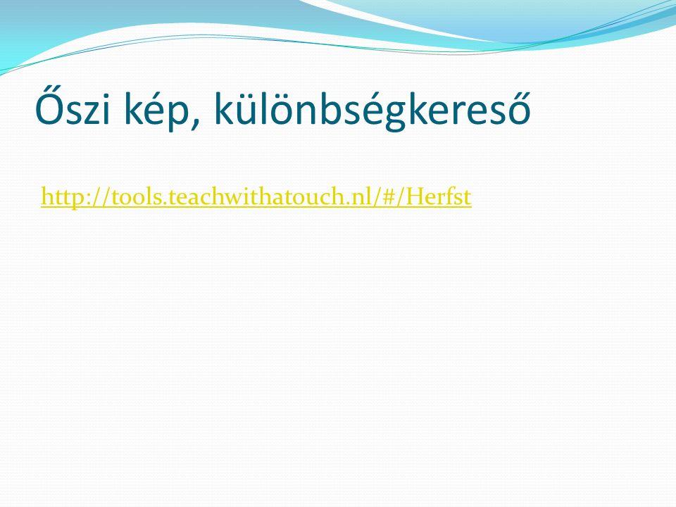 Őszi kép, különbségkereső http://tools.teachwithatouch.nl/#/Herfst