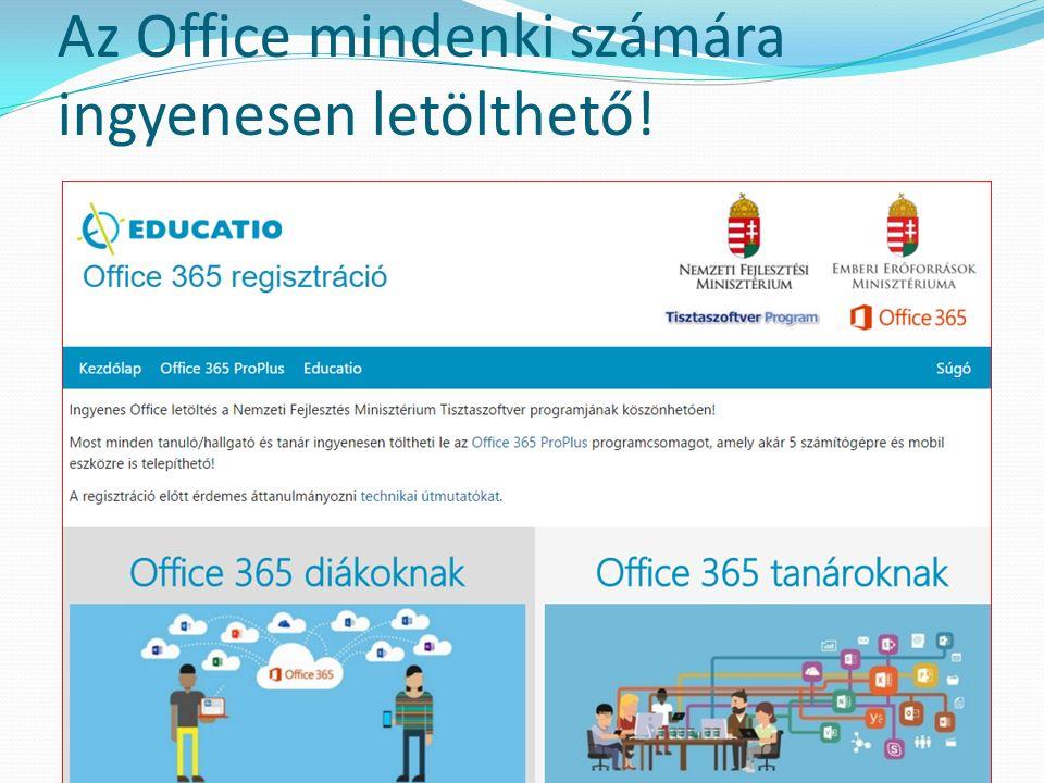 Az Office mindenki számára ingyenesen letölthető!