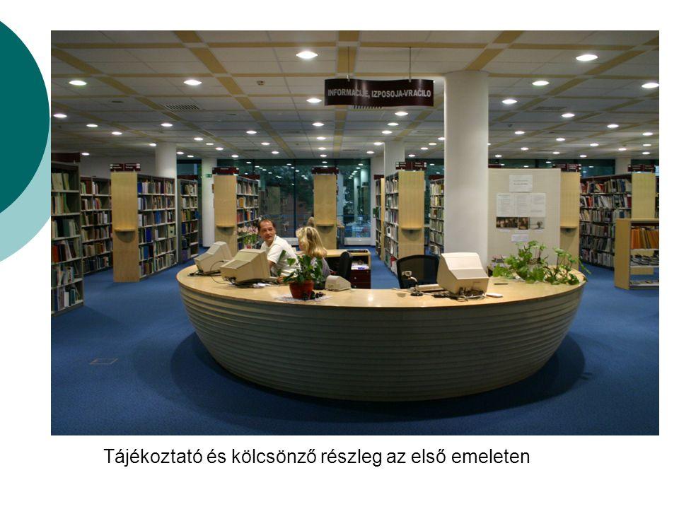 Területi és Tanulmányi Könyvtár Muraszombat Körzeti központi könyvtár, regionális könyvtár, közkönyvtár, szakkönyvtár, regionális helyismereti, nemzetiségi és mozgókönyvtári feladatok ellátása.