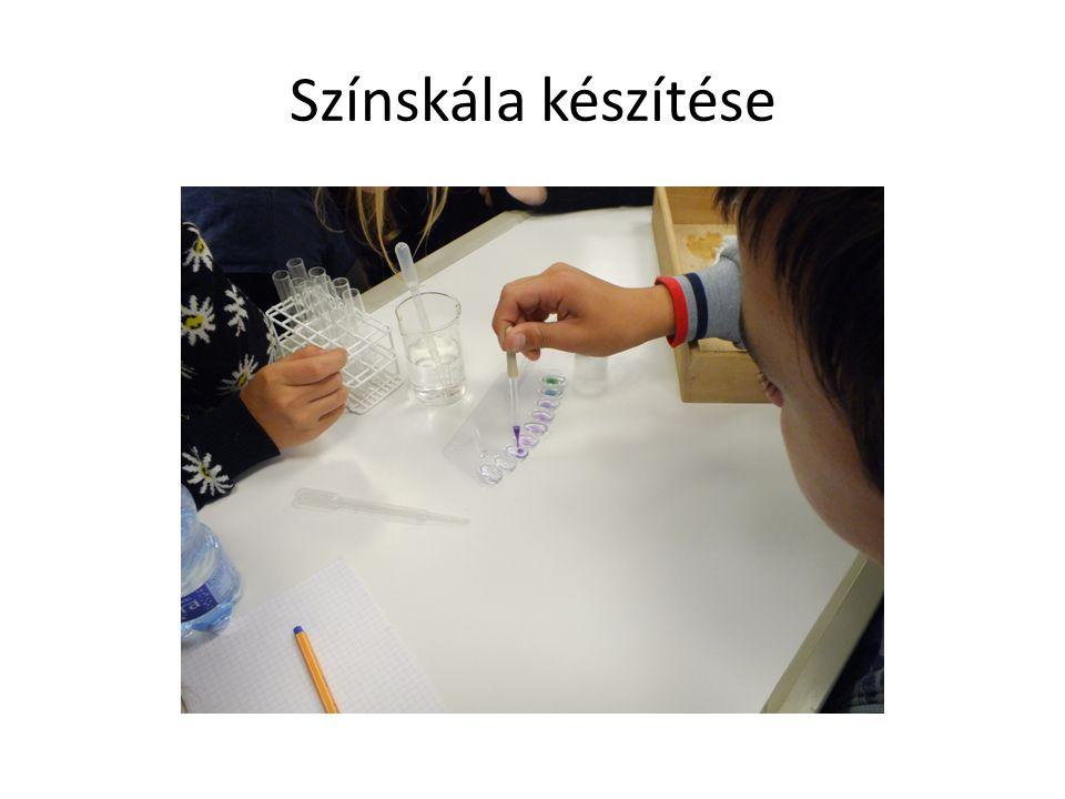 Színskála készítése