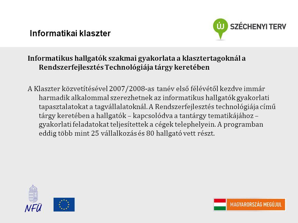 Vállalati együttműködések és klaszterek támogatása ÉAOP-1.1.2/A-11 2011 Beérkezett pályázatok száma: 15 db (3 fejlődő és 12 induló) (0 db vállalati együttműködés) Igényelt támogatás 431.350.177 Ft