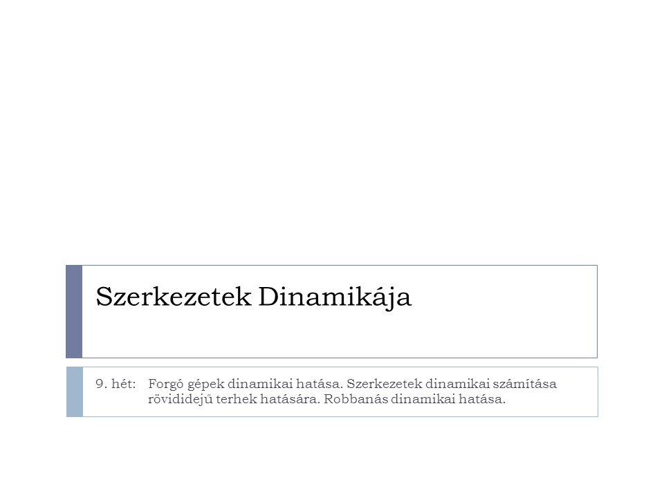Szerkezetek Dinamikája 9. hét:Forgó gépek dinamikai hatása.