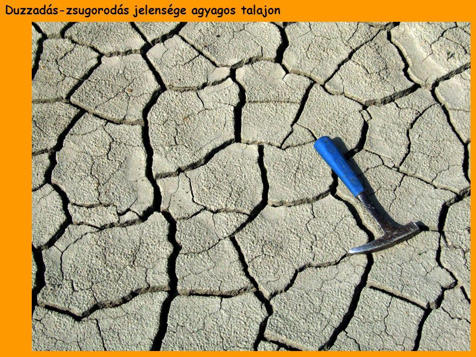 Duzzadás-zsugorodás jelensége agyagos talajon