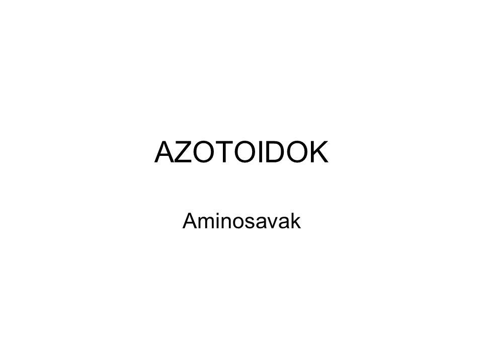AZOTOIDOK Aminosavak