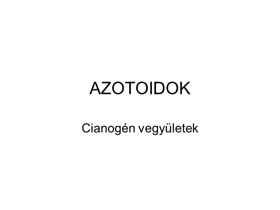 AZOTOIDOK Cianogén vegyületek