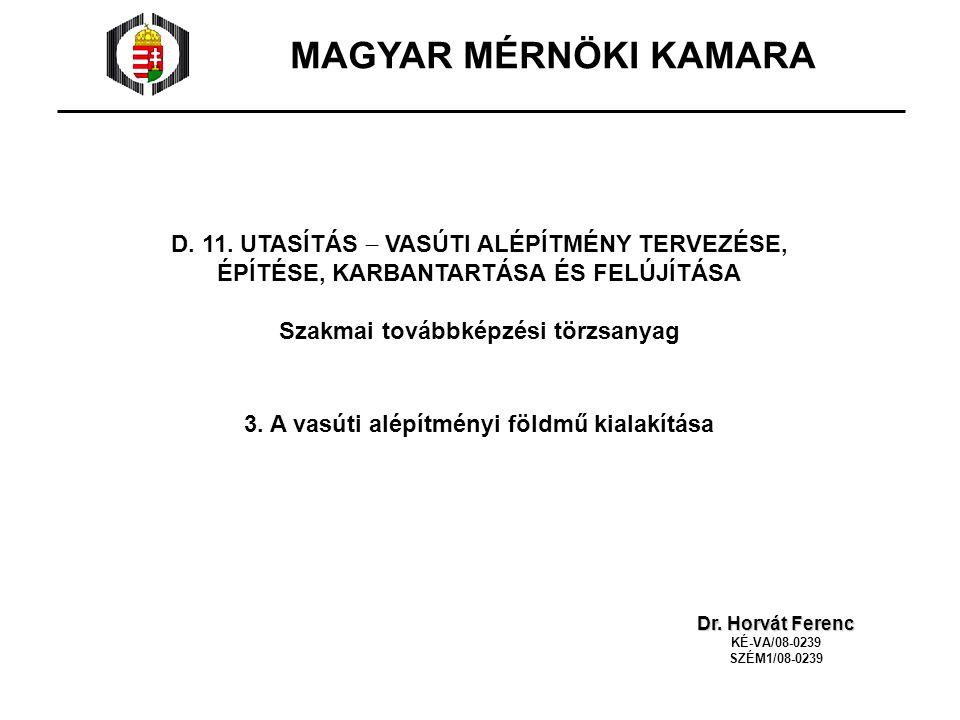 MAGYAR MÉRNÖKI KAMARA D.11.