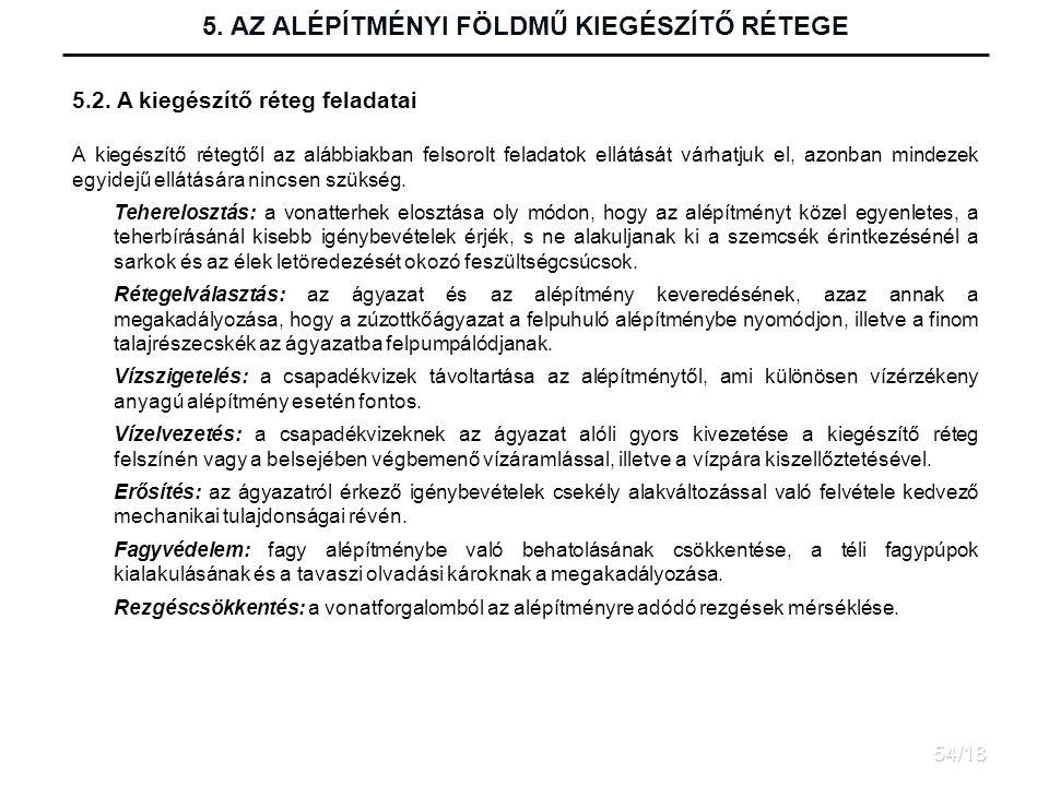 5.AZ ALÉPÍTMÉNYI FÖLDMŰ KIEGÉSZÍTŐ RÉTEGE 5.2.