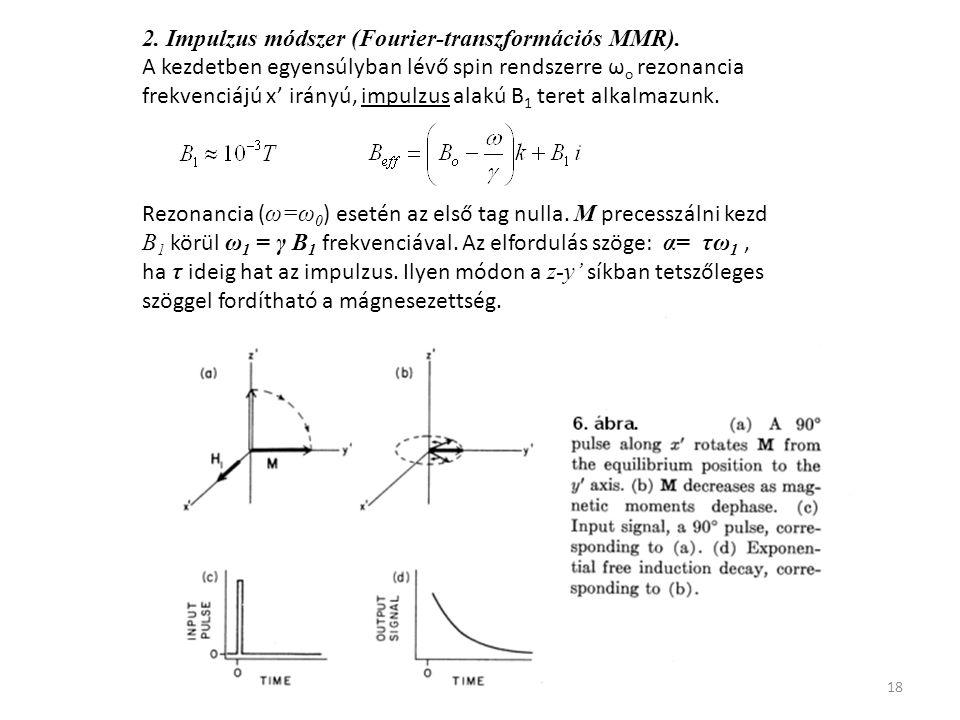 18 2. Impulzus módszer (Fourier-transzformációs MMR).