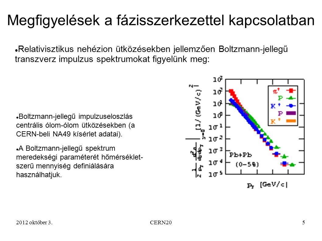 2012 október 3.CERN206 Fázisátalakulásokat jellemzően fűtési görbék árulnak el (konstans hőmérséklet a kevert fázisban).