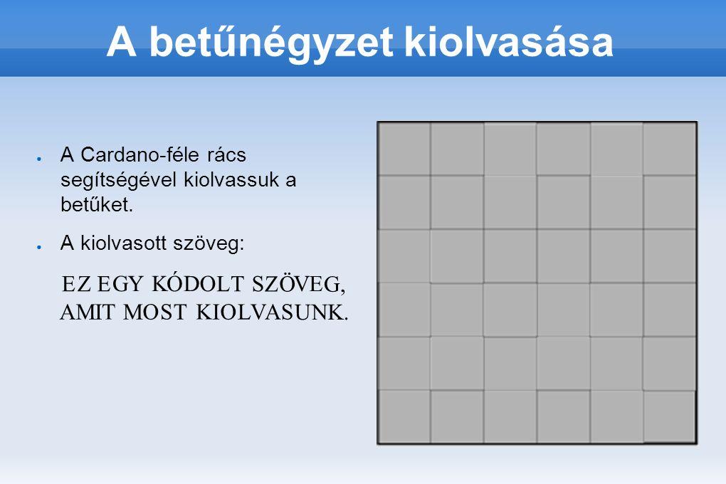 A Cardano-formulát alkalmazva nagyobb négyzeteket is készíthetünk, csak az oldalak mérőszámainak párosnak kell lenni.