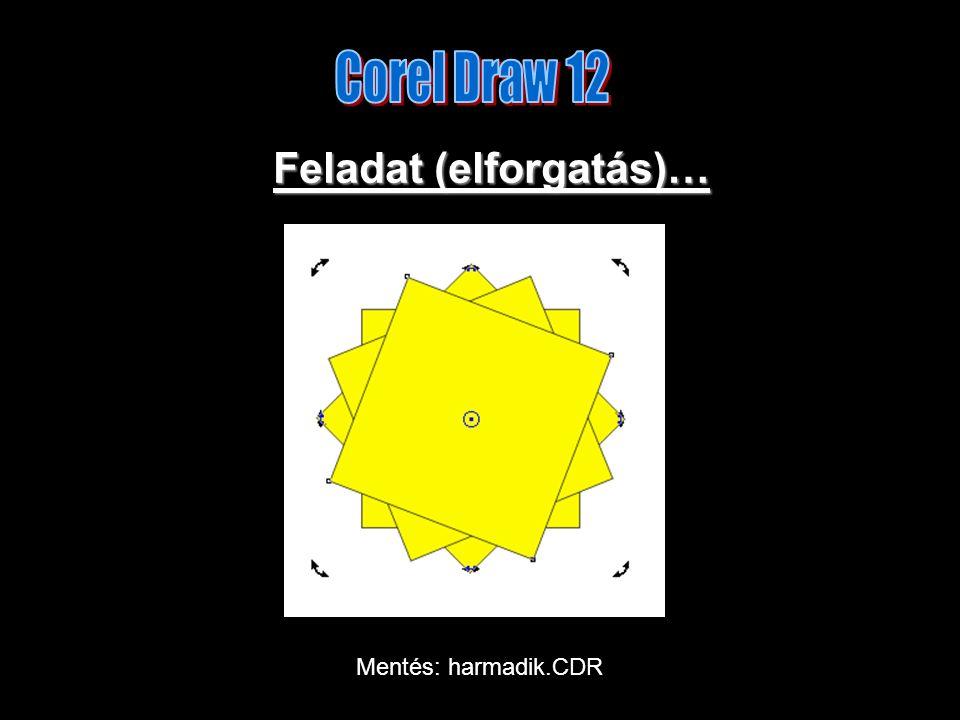 Feladat (elforgatás)… Mentés: harmadik.CDR