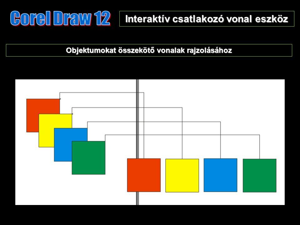 Interaktív csatlakozó vonal eszköz Objektumokat összekötő vonalak rajzolásához