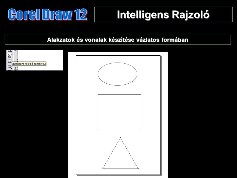 Intelligens Rajzoló Alakzatok és vonalak készítése vázlatos formában