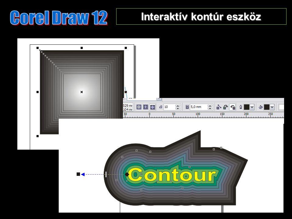 Interaktív kontúr eszköz