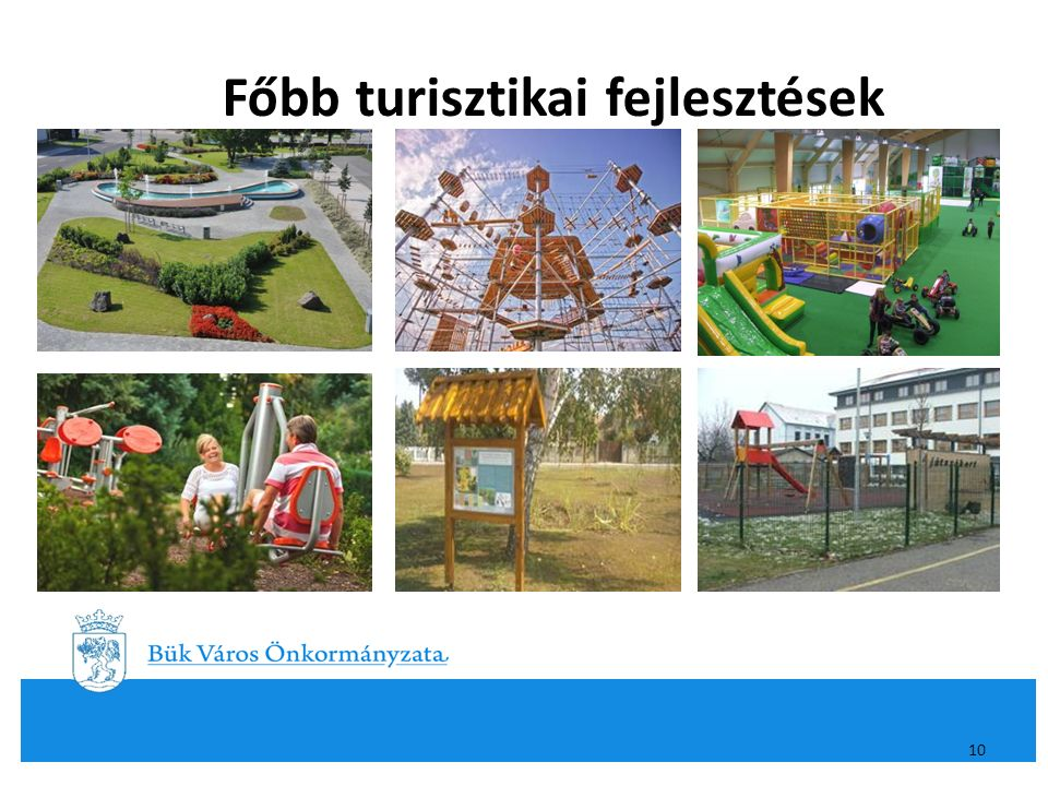 Főbb turisztikai fejlesztések 10
