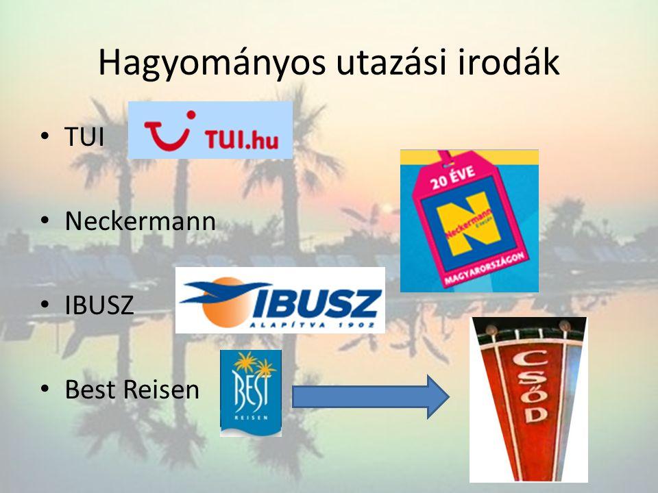 Hagyományos utazási irodák TUI Neckermann IBUSZ Best Reisen