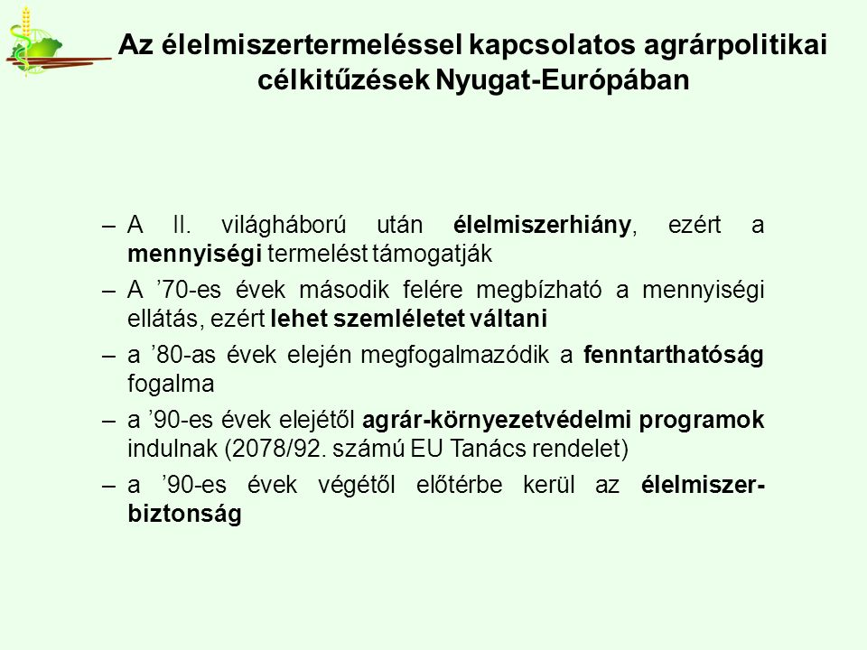 A műtrágya-felhasználás Magyarországon és a búza, kukorica, napraforgó terméseredmények Mg.-i területre vetített NPK hatóanyag kg/ha