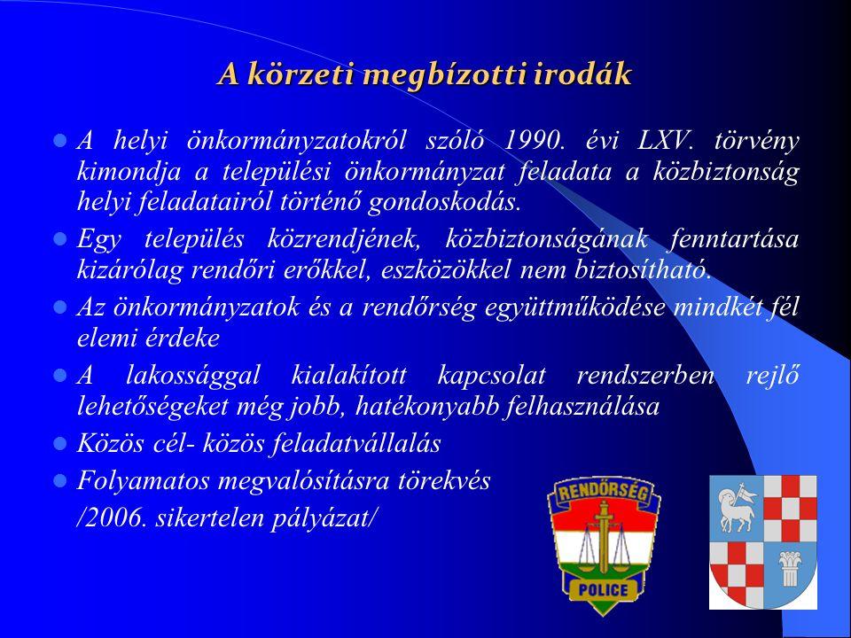 A helyi önkormányzatokról szóló 1990. évi LXV. törvény kimondja a települési önkormányzat feladata a közbiztonság helyi feladatairól történő gondoskod