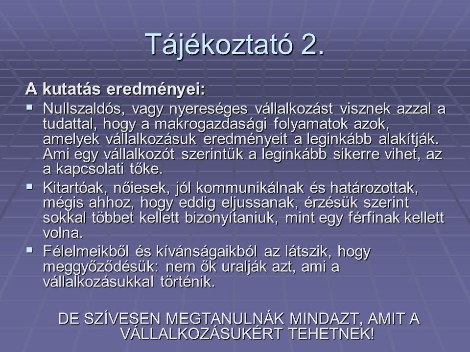 Tájékoztató 3.